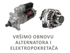Obnova alternatora i elektropokretaca
